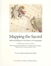 Mapping the Sacred: Belief and Religion in the History of