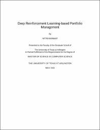 Deep Reinforcement Learning-based Portfolio Management